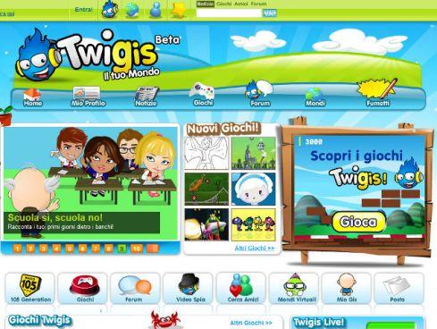 Uno screen shot da Twigis.it