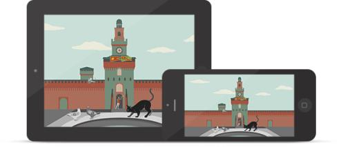 Un'immagine della app ArtStories dedicata alla scoperta del Castello Sforzesco di Milano