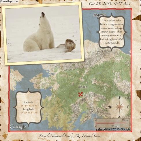 Un esempio di cartolina realizzata con Photo Mapo